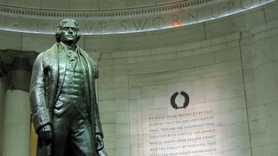 Thomas Jefferson statue slaver memorial privat offentlig sfære 50 ideer
