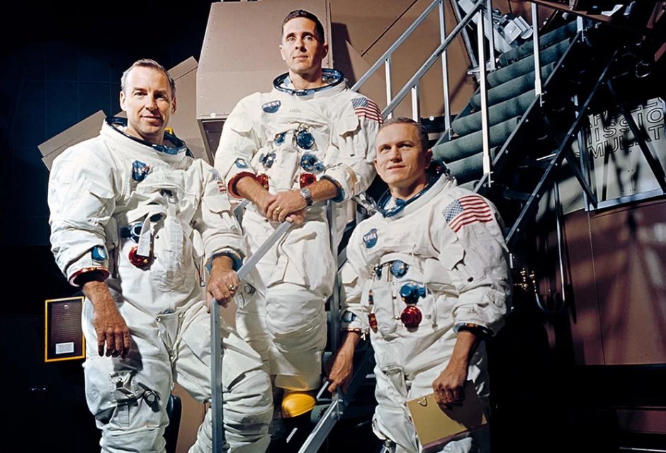 Apollo 8 crew James A. Lovell Jr., William A. Anders og Frank Borman NASA