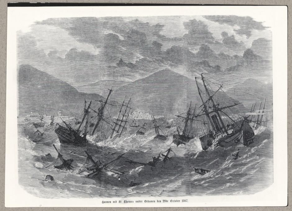 Dansk Vestindien orkan tsunami 1867 Frederiksted Mark Smith Holger Schultze