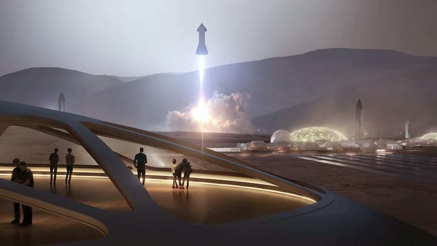 spacex starship elon musk Mars