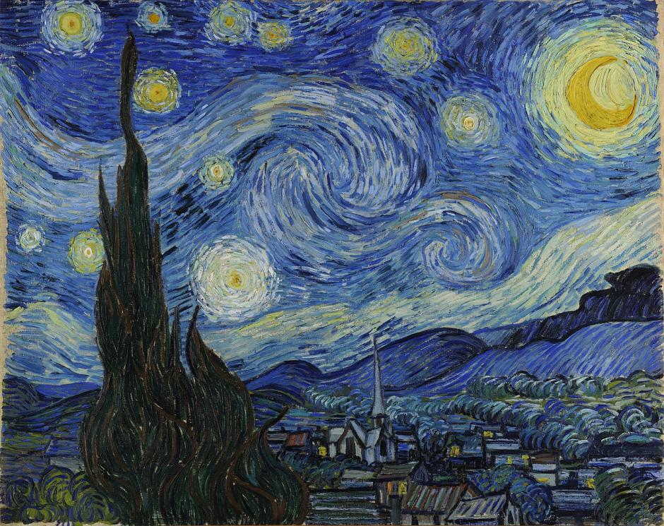 van gogh starry night stjernenatten jupiter juno rumsonde nasa