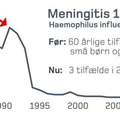<p>Klik videre i galleriet for at finde flere øjenåbnende grafer over vacciners effekt. (Grafik: Statens Serum Institut)</p>